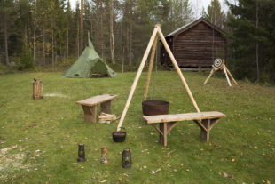 Stuga's en camping in Zweden