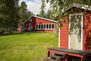 Stuga en camping in Zweden