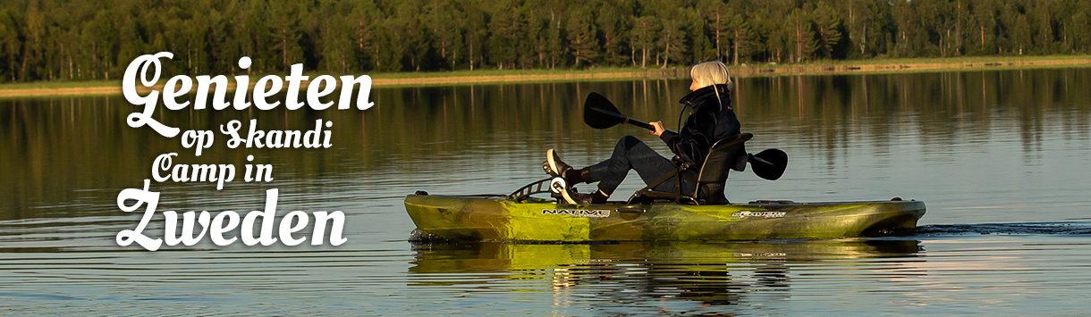 Met de viskano over de Zweedse meren